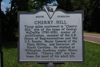 Cherry Hill, plantation home of George McDuffie on the Savannah river near Willington, in present-day McCormick County, SC.