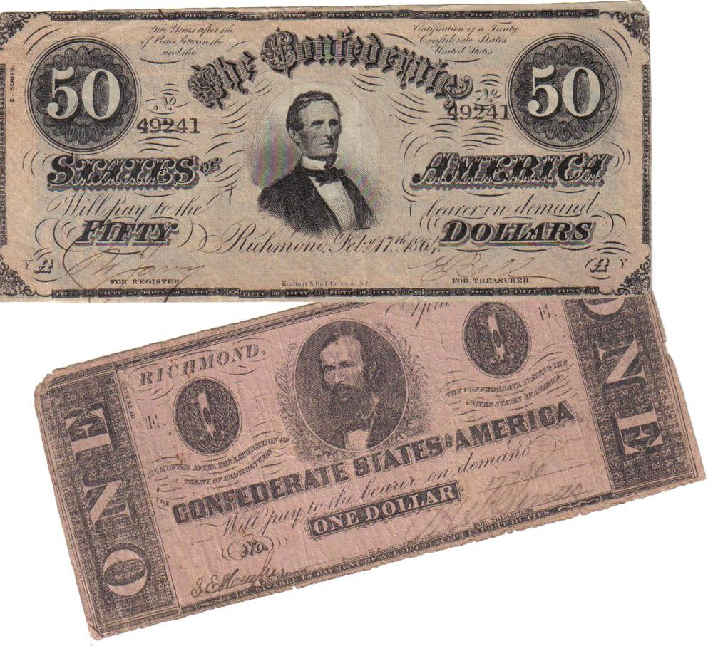 Confederate money from great grand mother's trunk