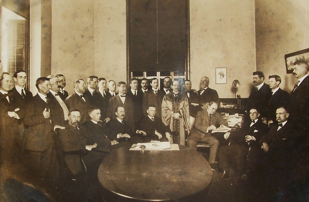 Governor signing act for creating McCormick County in 1916