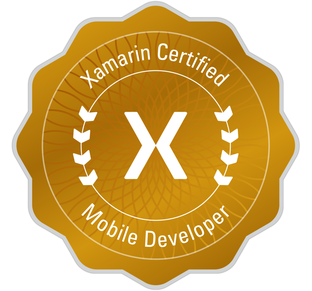 Xamarin Mobile Certified Developer until 9th Oct 2017