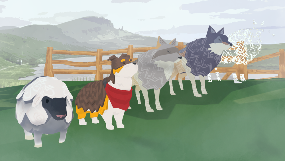 Sheep by Peter Slattery. Wolves by Stephanie Wong.
