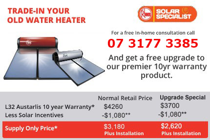 Save on over $500 on quality Rheem solar hot water with us!