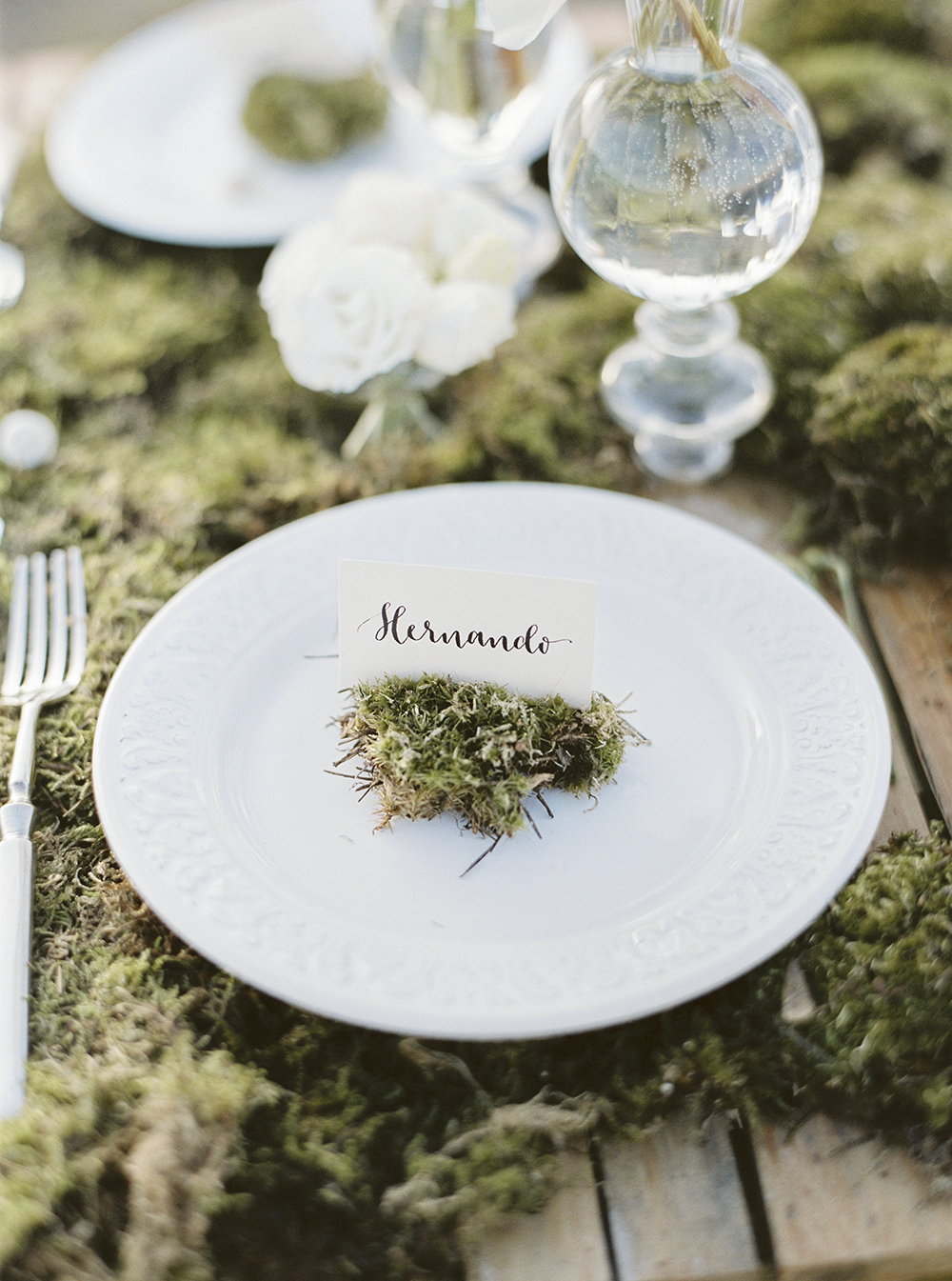 calligraphy place card by A Creative Affair