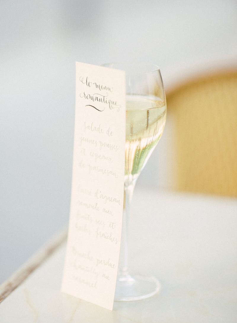 wedding menu calligraphy by A Creative Affair_Photo by Clara Tuma