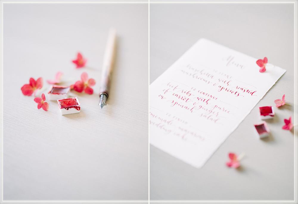modern calligraphy menu  Menu mit Kalligraphie geschrieben
