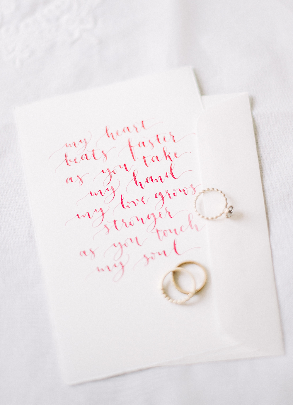Calligraphy poem in red by A Creative Affair