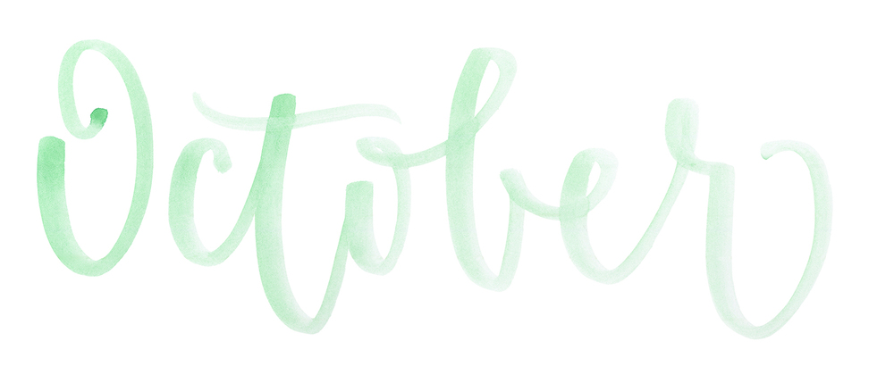 MONTHLY MONTH! — A Creative Affair   Calligraphy, Hand Lettering ...