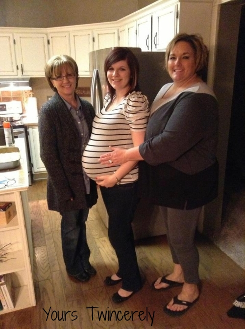 29 weeks with my mom and mimi.