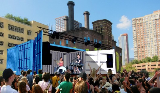 ARTBLOC: A MOBILE ART SPACE MADE FROM TWO SHIPPING CONTAINERS