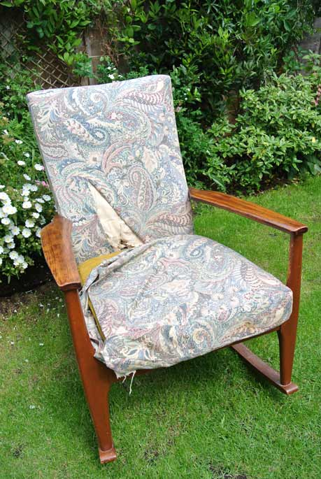 parker knoll rocking chair before after rosie shaw upholstery