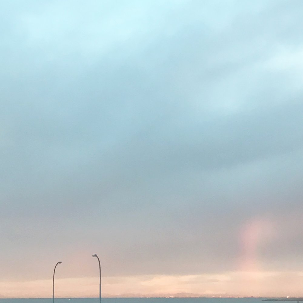 a cute little rainbow I noticed coming back from the store
