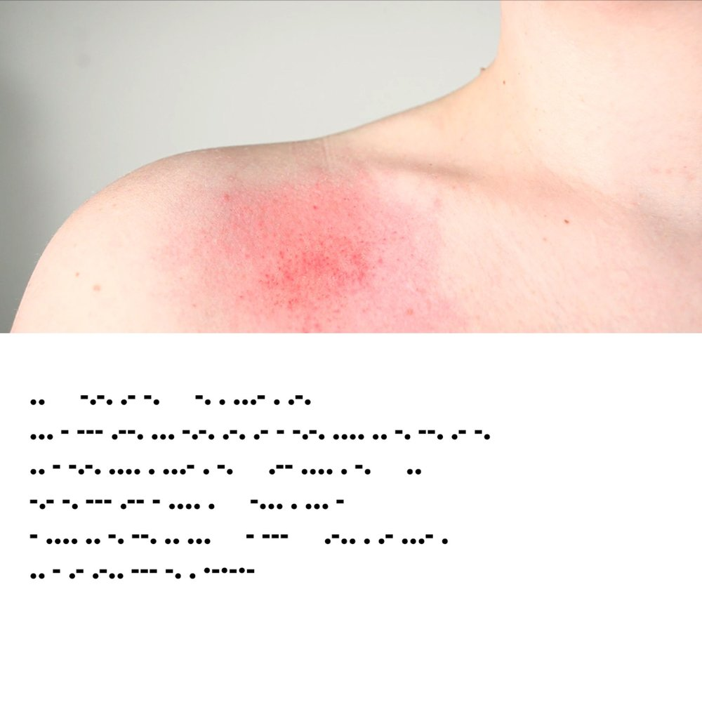 still from  plea no. 1: a distant monologue of not leaving well enough, alone II  with poem in morse code
