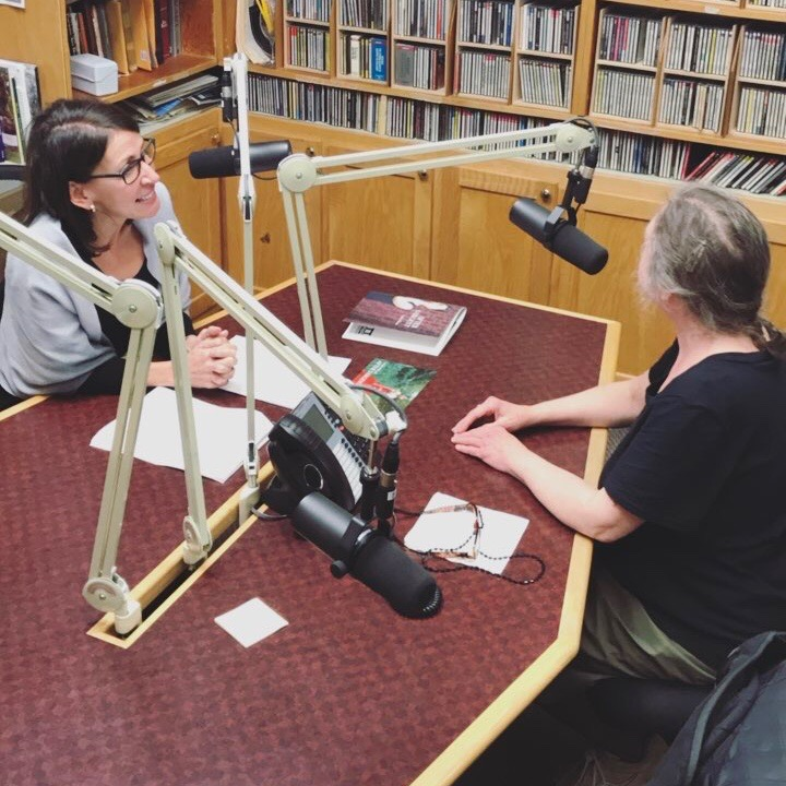 Lydia being interviewed for WVIA ArtScene during her visit