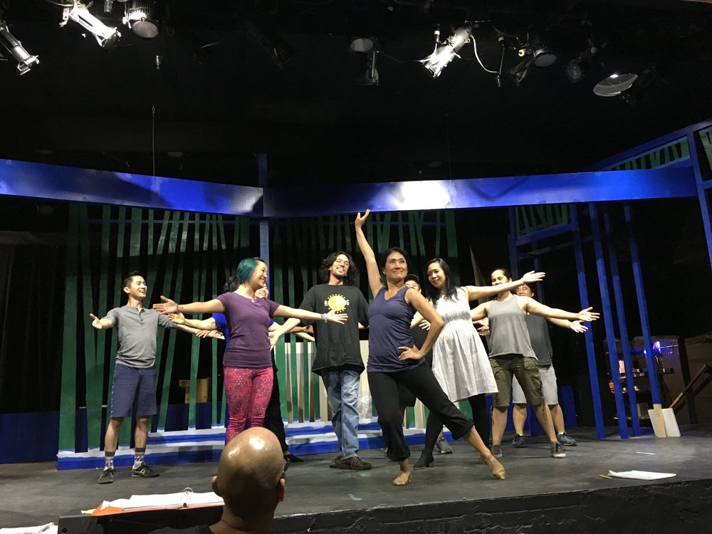 The set is really coming along! And so is this beautiful cast!