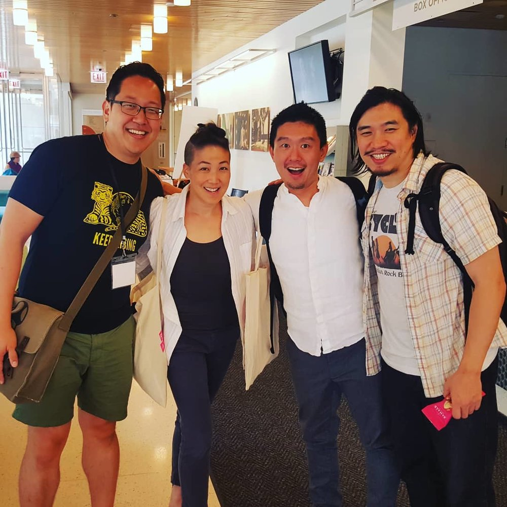 Me with some ConFest colleagues: Traci Kato-Kiriyama, Byron Au Yong, and Howard Ho.