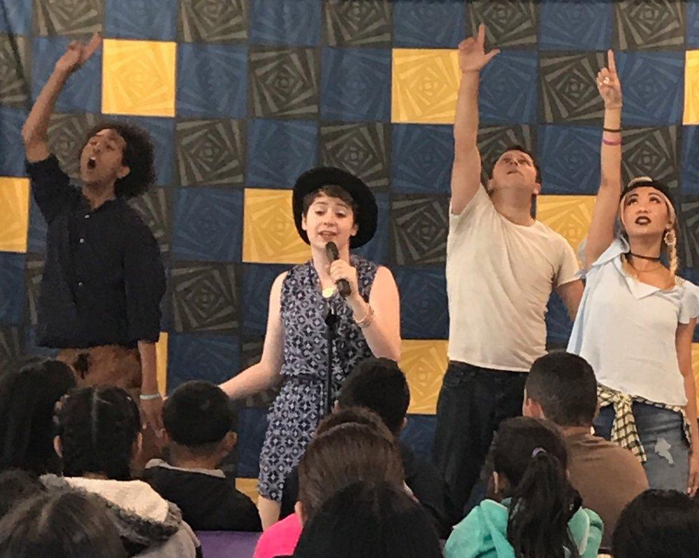 L to R: M. André San-chez, Kailah Cayou, Casey Robbins, Amanda Nguyen