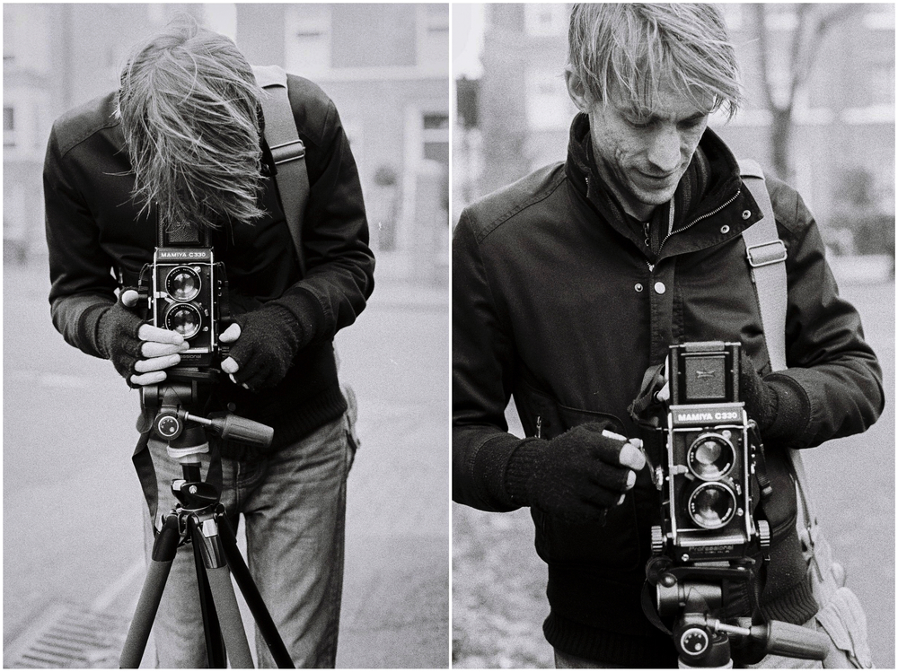 Shooting with my Mamiya C330. (Shots by Bayek Photography)