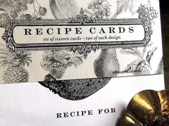 Personalized recipe cards by inkadinkadoodle