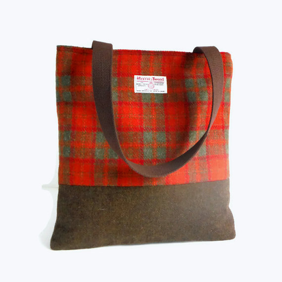 Harris Tweed Tote Bag by Pesky Cat Designs