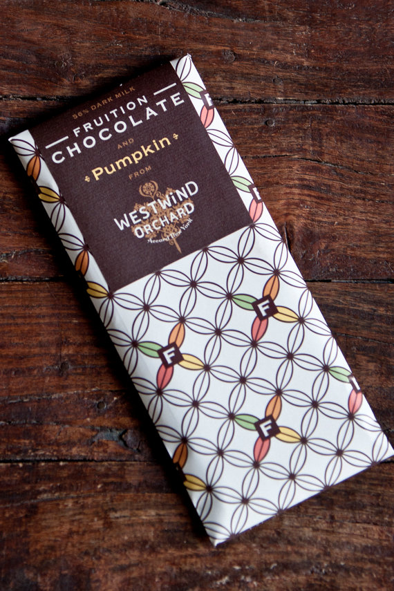 Fruition chocolate pumpkin bar by Westwind Orchard