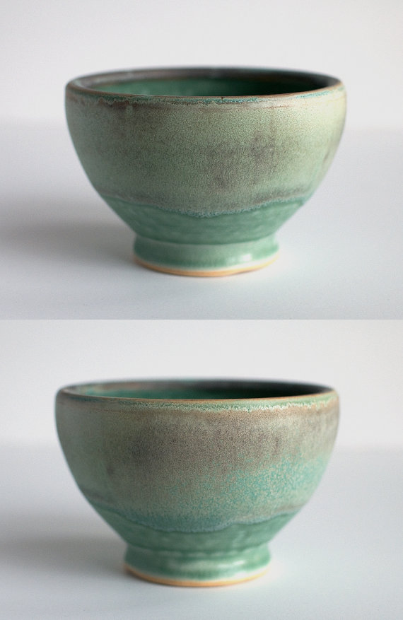 Seafoam mint bowl by DiTerra, based in Minneapolis
