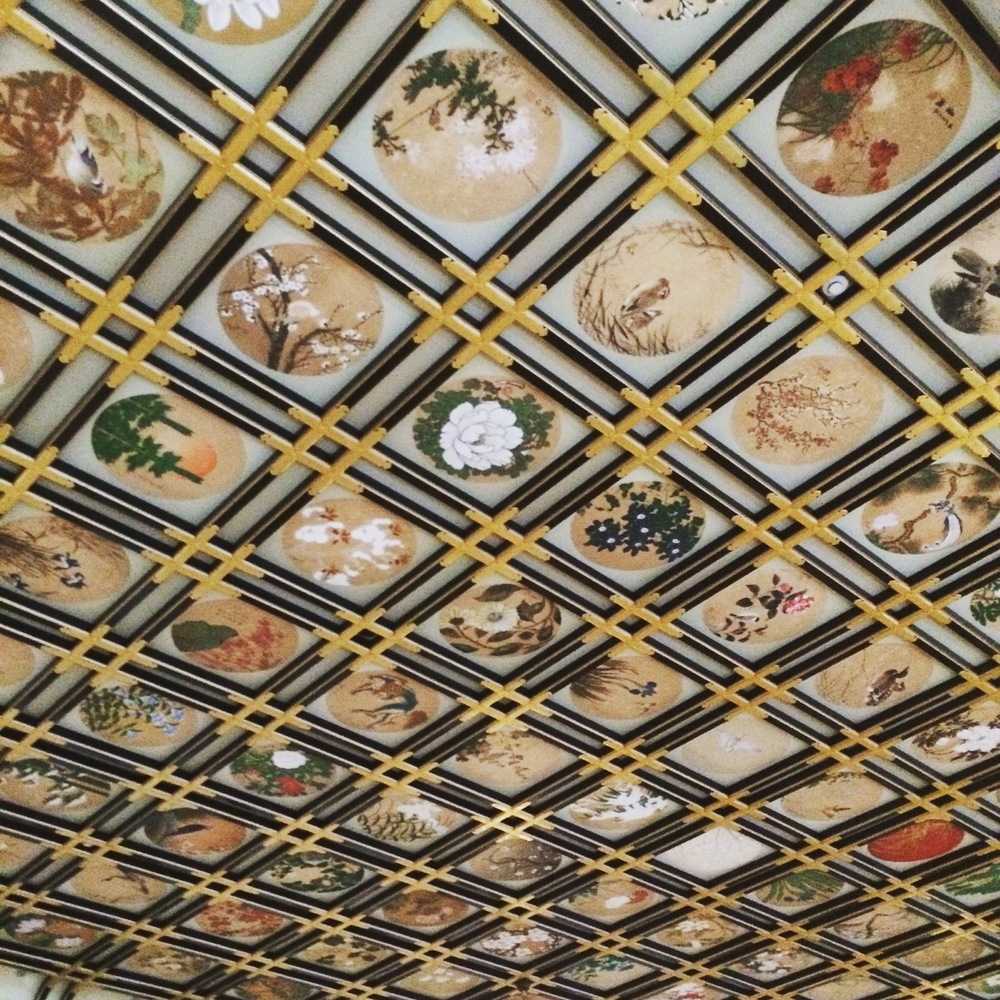 Beautiful artwork covering a ceiling @ Eihei-ji