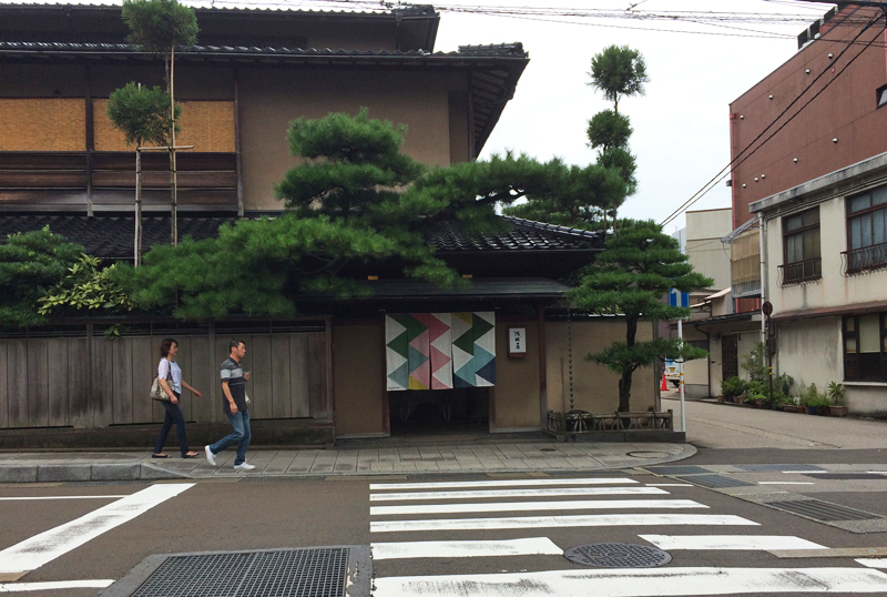 Kanazawa was full of sophisticated design - loved the textile at the entrance of this building.