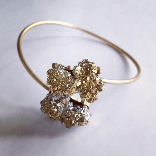 Super Cluster Cuff by Crystal Chimera