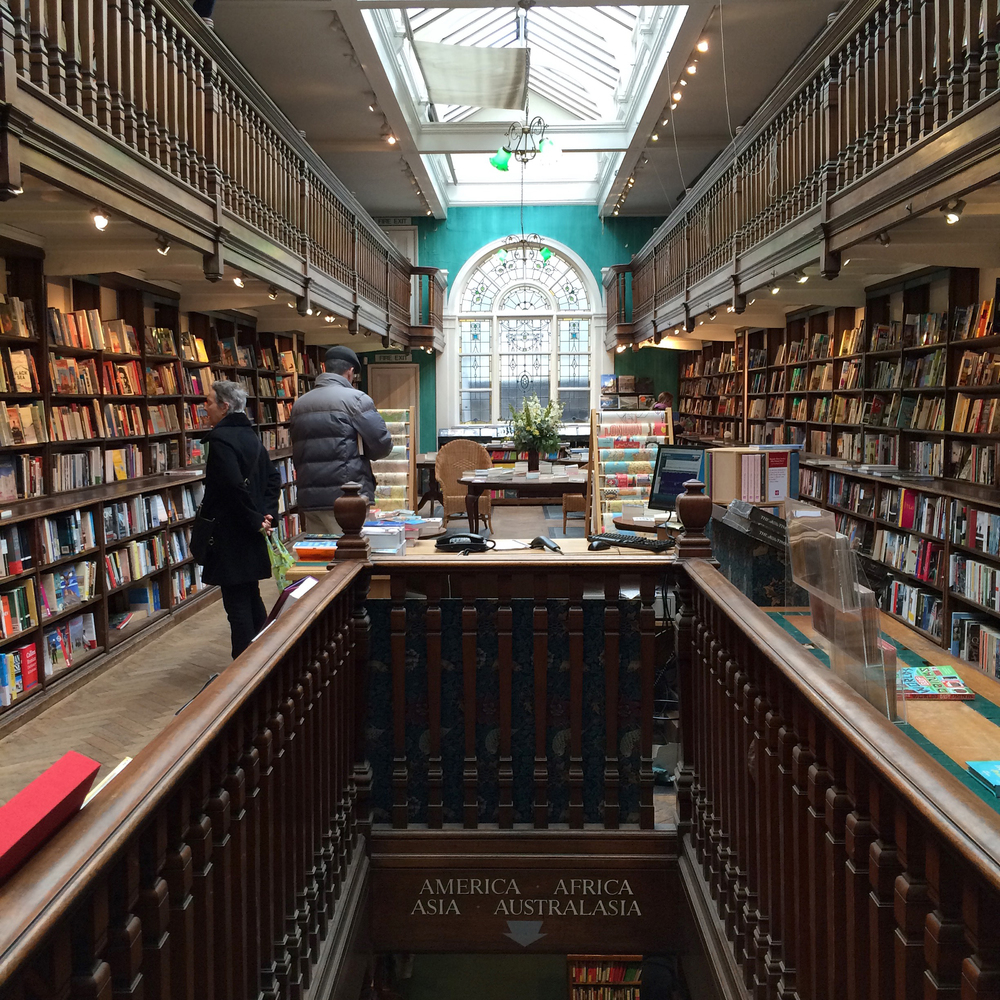 Interior of Daunt Books
