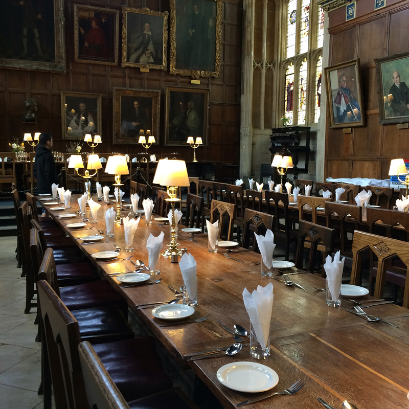 The Great Hall in Christ Church College, Oxford.