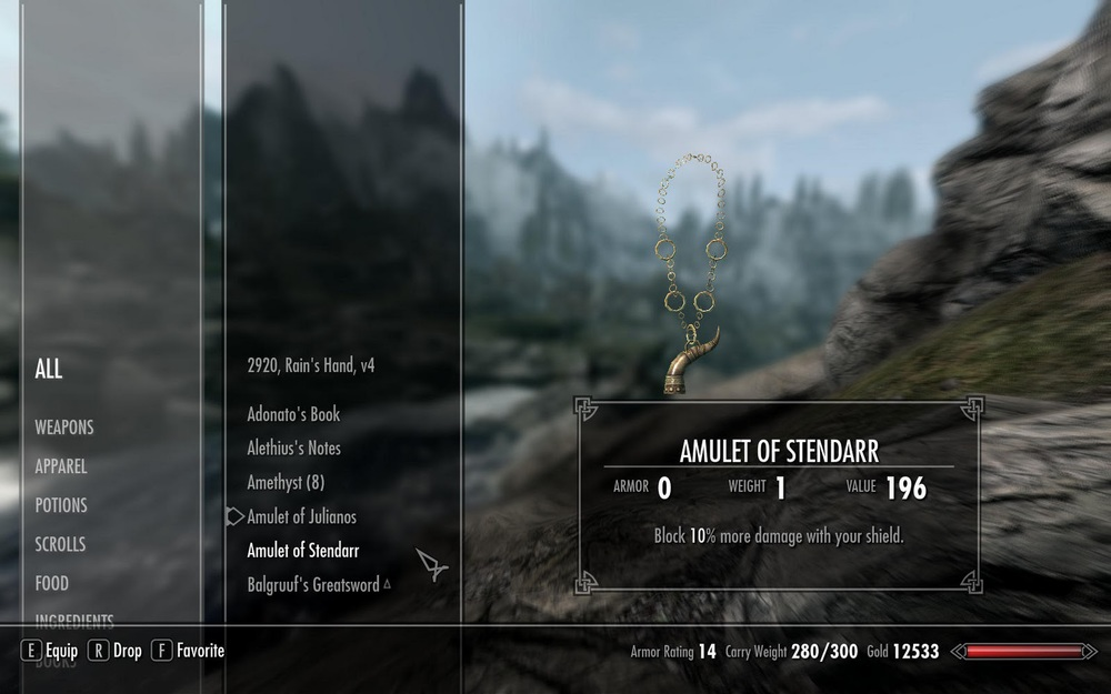 Dull, dull dull. Skyrim: one of the worst offenders. This beautifully streamlined interface doesn't exactly communicate the medieval gothic that pervades the rest of the game.