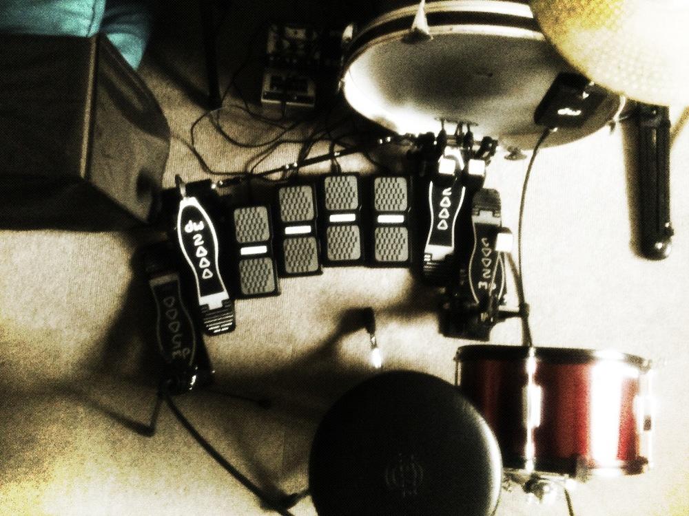 De analoge drum - Ableton Live setup (2013 - 2015) Deze setup moet nog live getest worden ;-)