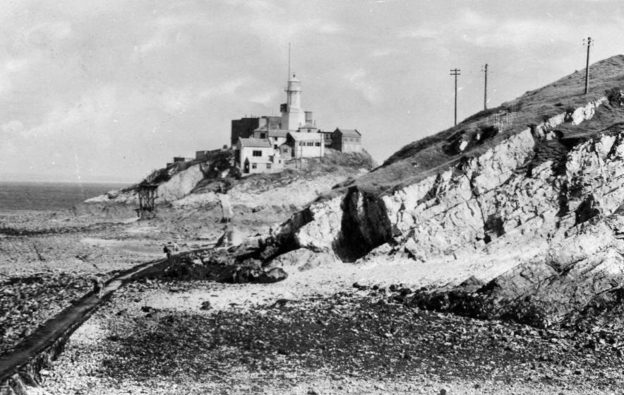 Mumbles Lighthouse in the 1950s
