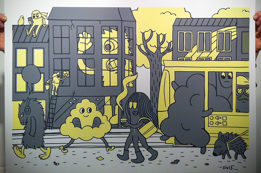 """""""Citylife"""", 70x50 cm."""