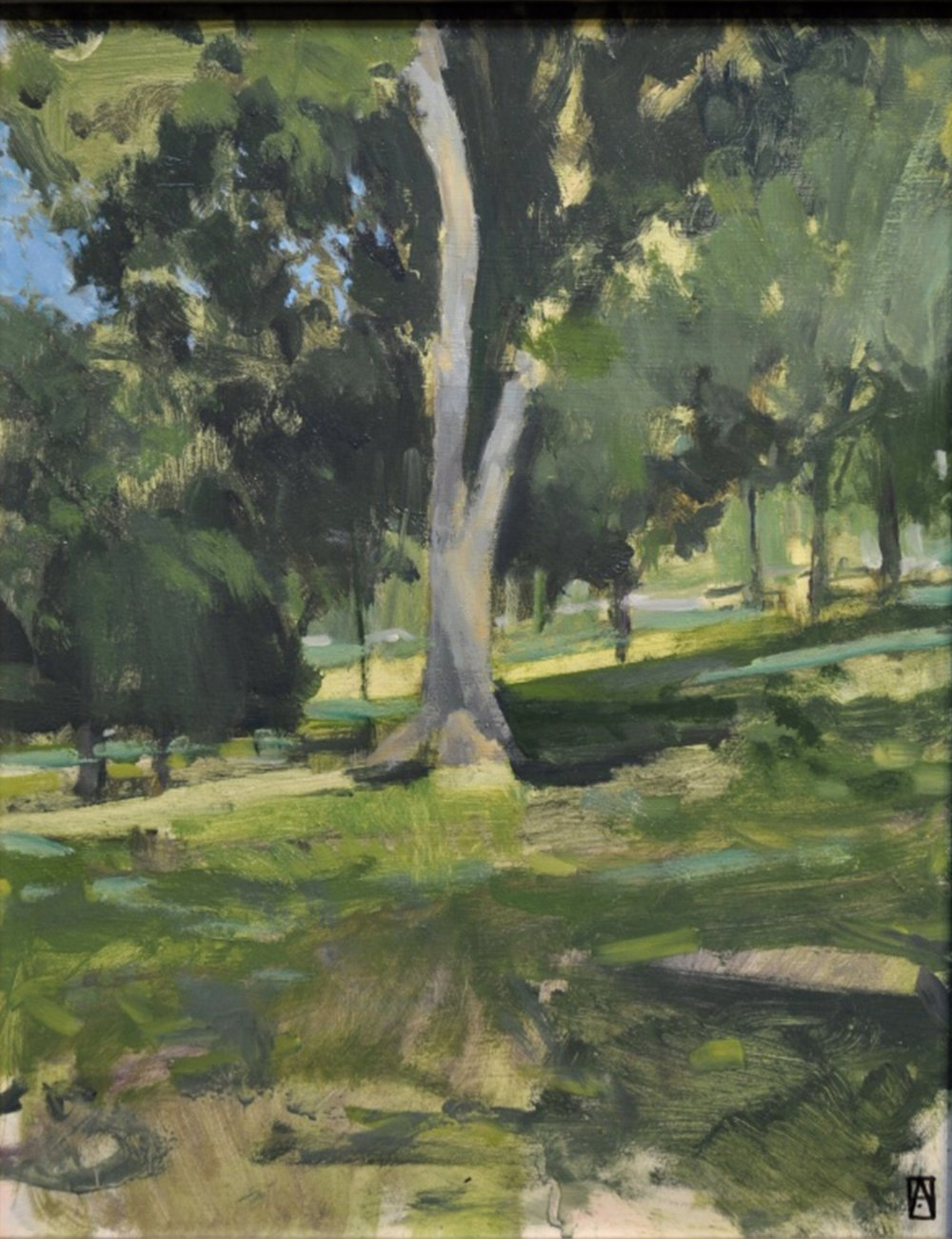 My demo painting from the 3 day West Park Plein Air Workshop in June 2017