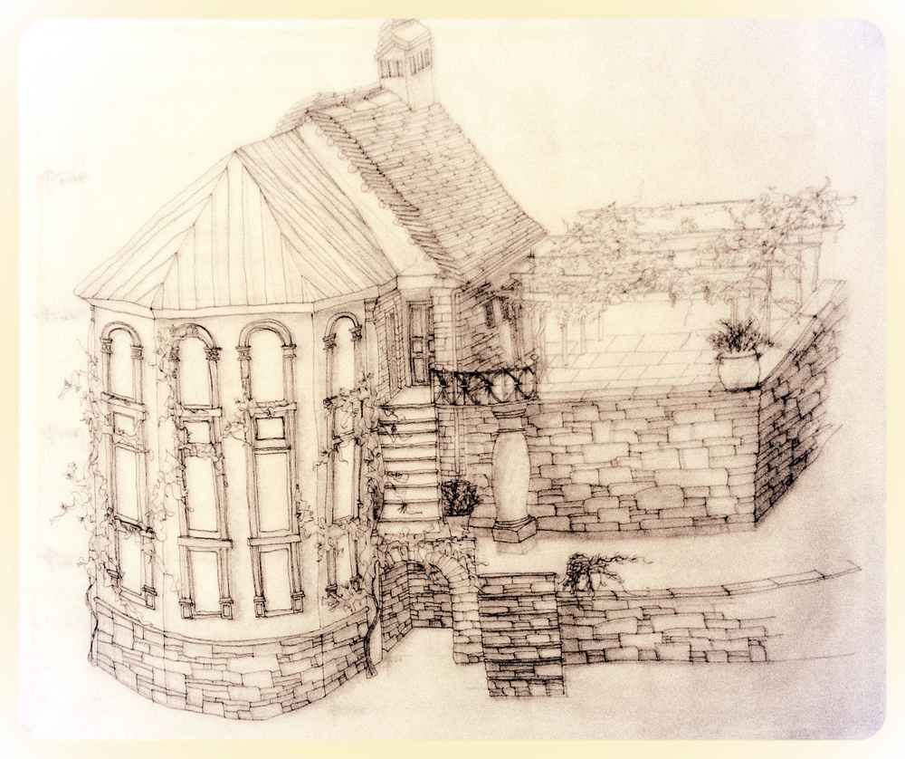 Original sketch of home-to-be in Ghesc