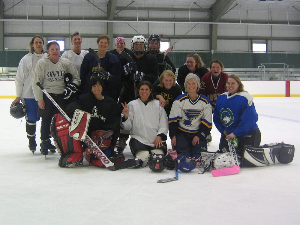Best group of hockey ladies, Stowe Women's Tournament, Jackson Arena, Vermont, 2014