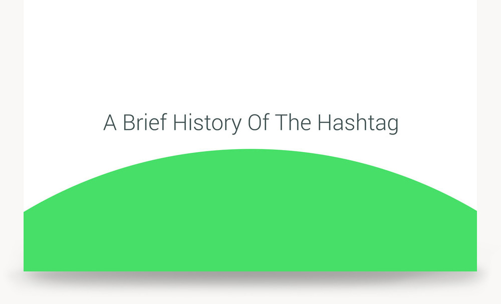 A Brief History of the Hashtag, a presentation by Stowe Boyd