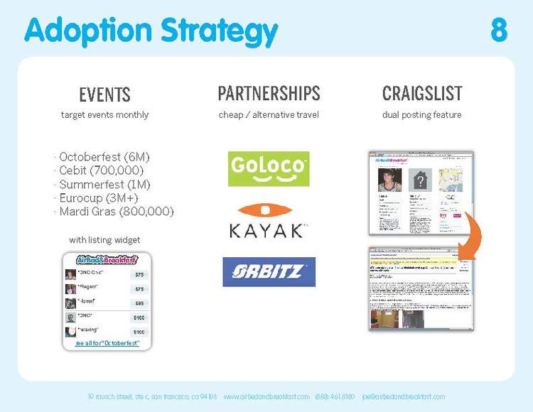 Original 2009 Adoption Strategy slide.