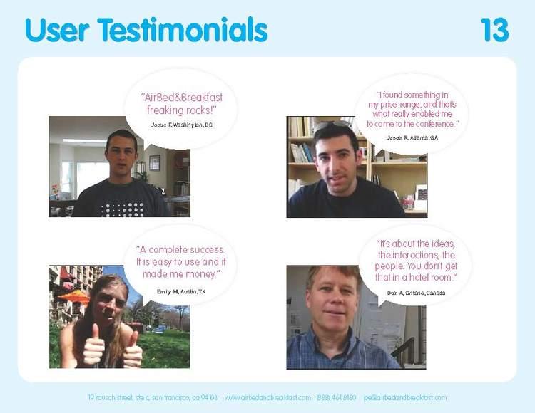 Original 2009 Testimonials slide.