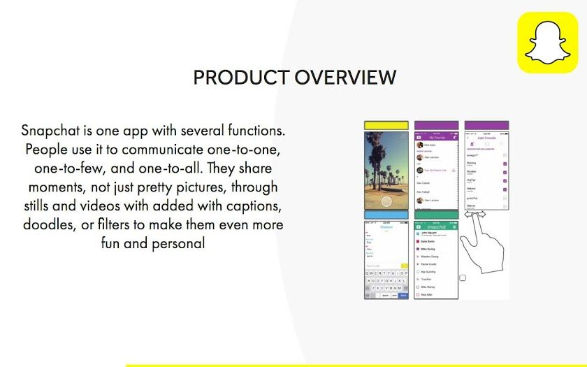 snapchat-product-overview-pitch-deck-redesigned