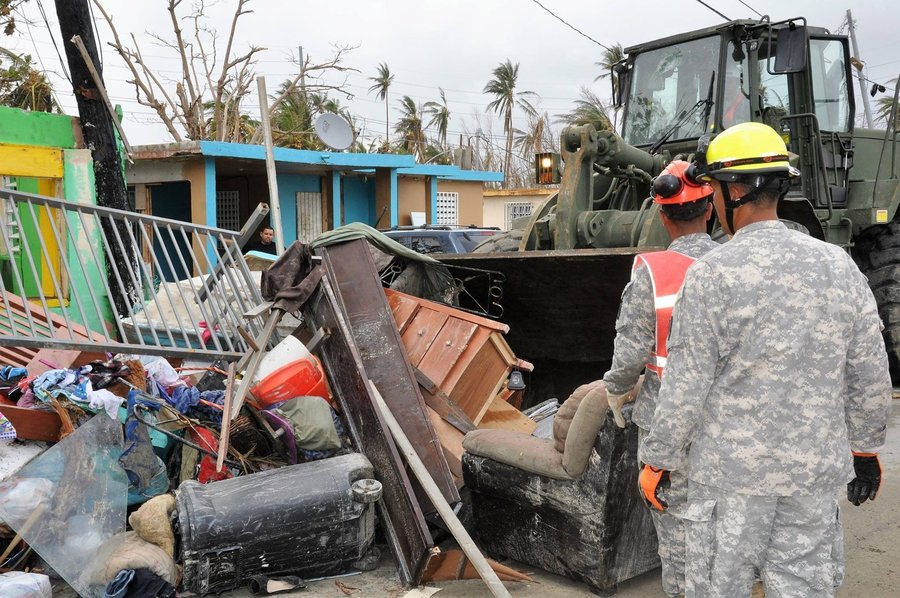 Citizen-Soldiers from Army Aviation of the Puerto Rico National Guard, transported food and water to the municipality of Jayuya, P.R., Sept. 27.