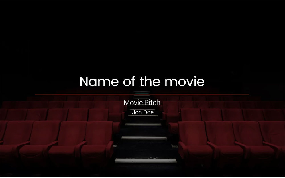 Film Powerpoint Template Free Pdf Ppt Download Slidebean