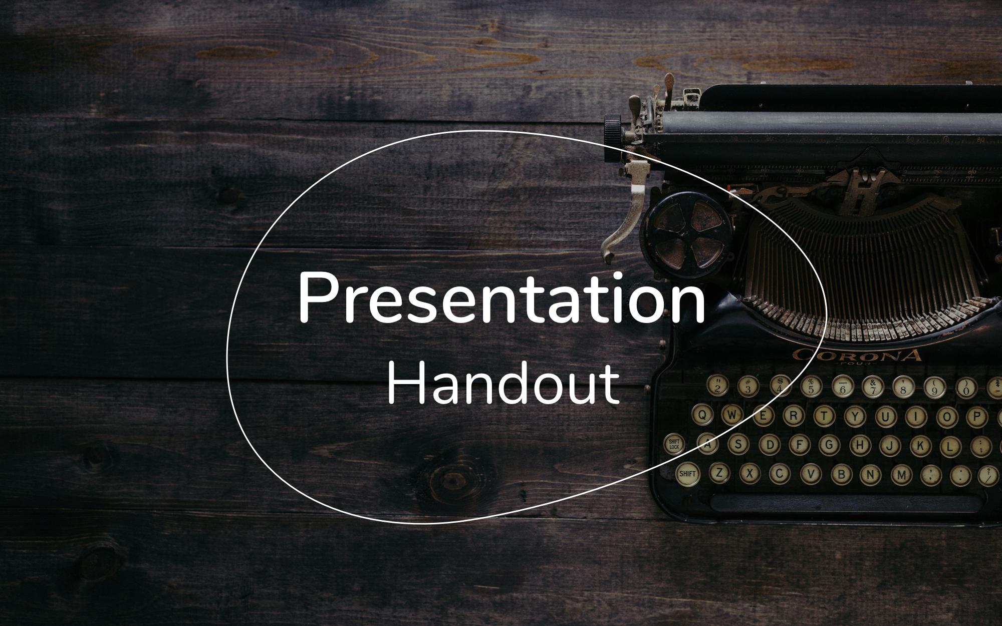presentation handout template free pdf ppt download slidebean