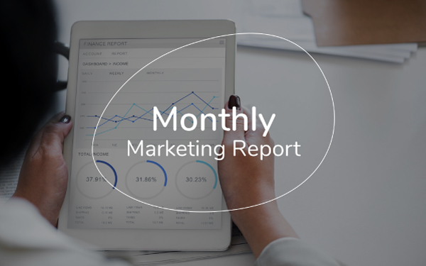 Monthly Marketing Report Template — Slidebean