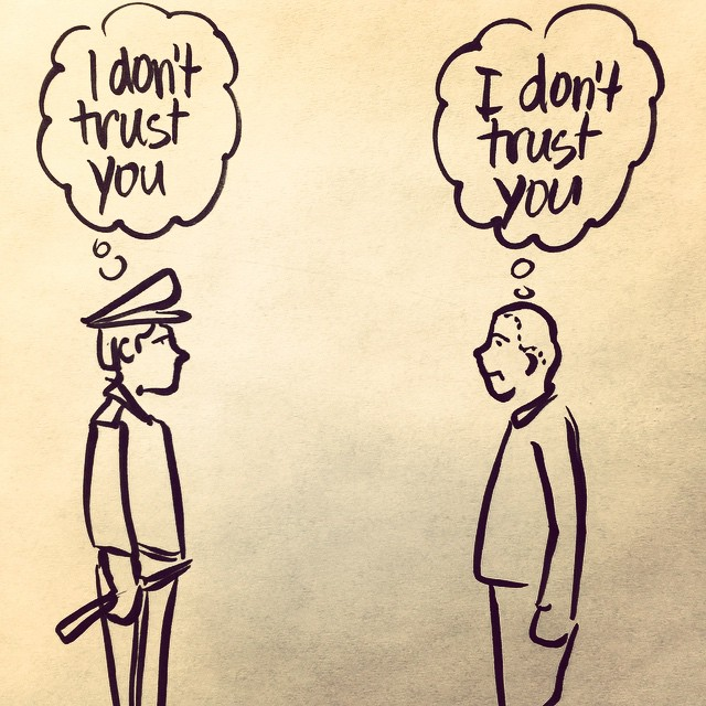 A lack of trust on both sides