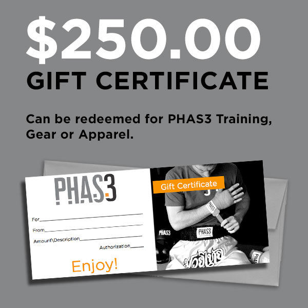 Gift Certificate PHAS Martial Arts Gear And Apparel - Martial arts gift certificate template