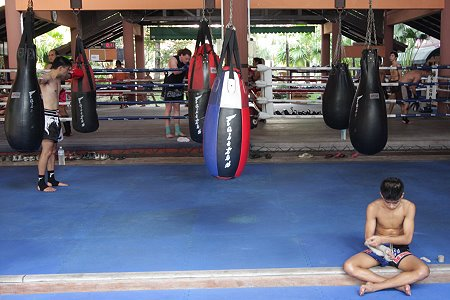 The Woodenman's first Muay Thai school, Fairtex Bangplee