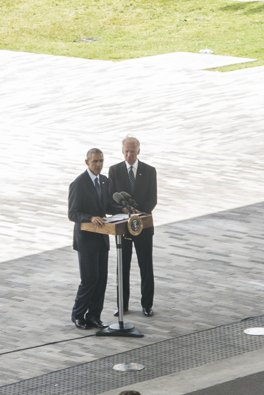 President Obama & Vice President Biden visit the Pulse memorial at Dr. Phillips Center