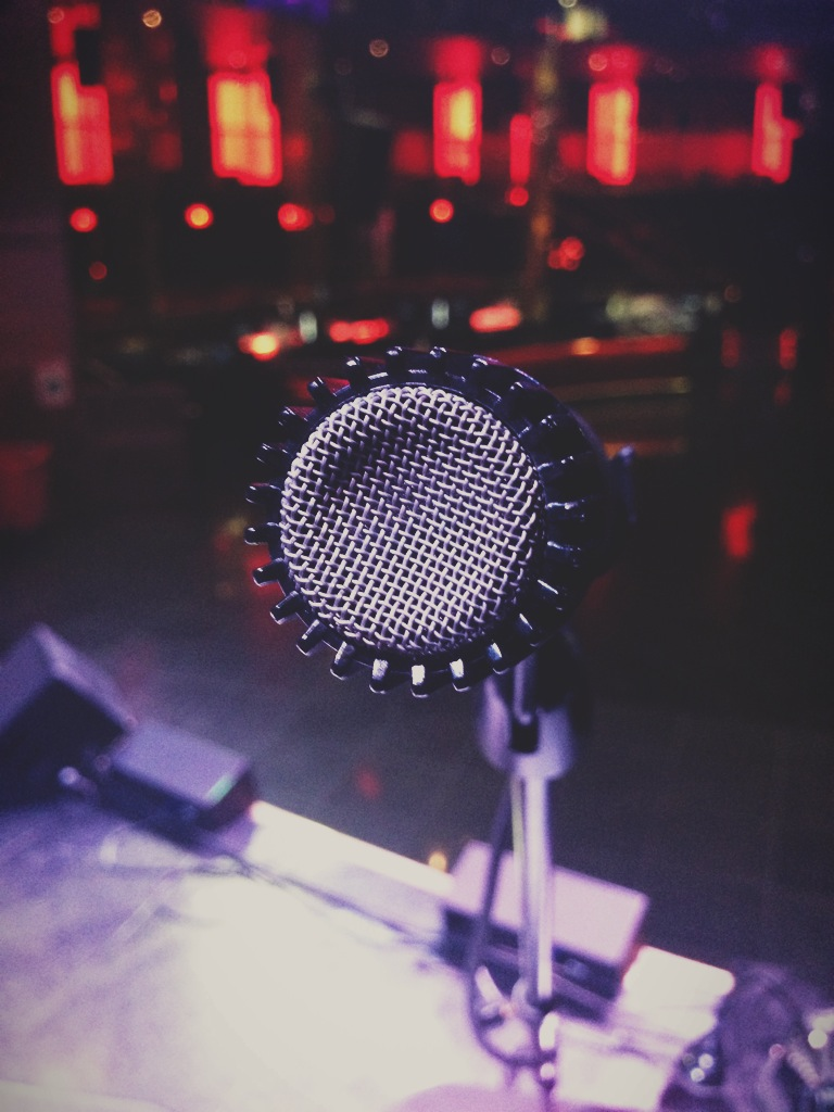 Step up to the mic.